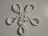 Turtle knot (Rope with detail) 3d printed Note that the details do not really show in this material.