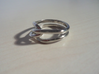 Whitehead ring (US sizes 5.75 – 9.75) 3d printed Rhodium Plated, size 9.125 (not for sale)