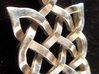 Nikki's Knot  3d printed 3D Print in Silver-Back of pendant