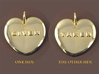 Taken & Given Heart Pendant 3d printed 18K Gold Plated