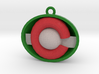 Colorado ornament red and green 3d printed