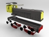 NS 2200 chassis. Scale 0 (1:45) 3d printed