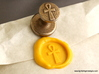 Ankh Wax Seal 3d printed Ankh wax seal with impression in Sunflower Yellow sealing wax