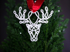 Celtic Knotted Reindeer Head Pendant/Ornament 3d printed