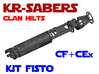 KR-S Clan Hilts - Kit Fisto - CF Chassis 3d printed
