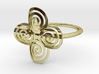 """Celtic """"life and death"""" quadruple spiral ring 3d printed"""