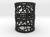 Set of 2 large napkin rings with Hearts 3d printed