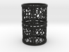 Set of 2 small napkin rings with Mosaic-3a 3d printed