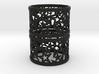 Set of 2 large Christmas napkin rings with Stars 3d printed