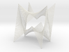 String Art Sculpture - Double Straight Lines Curve 3d printed