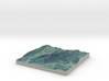 """Mount Greylock Map: 6"""" 3d printed"""