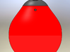 """1/32 scale 12"""" Buoy (Bouy) Barracuda RC Boats 3d printed Solidworks Rendering"""