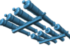 1/146 Royal Navy 32-pounder Cannons (1805) 3d printed