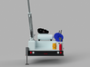 Pickup Reel Static Truck With Crane 1-87 HO Scale 3d printed