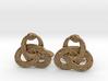 Ouroboros Triquetra Cufflinks  3d printed