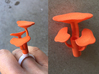 Reiche Mushroom Cluster 3d printed Reishi Mushroom Cluster ring topper. Note, snap ring base sold separately.