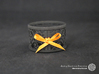 Set of 2 large napkin rings with Mosaic-3b 3d printed The photo shows a print made of black strong and flexible incl. orange lacing.