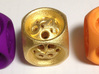 Backgammon Cube 3d printed Large Orange, Purple and Gold