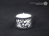 Small tealight holder with Stars  3d printed The photo shows a print made of black strong and flexible incl. silver lacing and a high 8h tealight candle.
