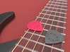 Jazz Style Thick Guitar Pick w/Dimples 3d printed Jazz Style Guitar Pick with Dimples