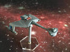 3125 Scale Klingon D6S Heavy Scout Cruiser WEM 3d printed Painted by a fan (Smooth Fine Detail Plastic). Stand not included.