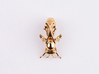 Beekeeper Chess Collection: Queen 3d printed Polished Brass