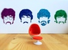 Egg Chair Dome: Red & White (1:24 Scale) 3d printed Part retro. Part future. 100% egg.