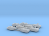 6mm Manned MBT Turrets (8) 3d printed