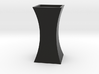 Curved Flower Vase - Black 3d printed