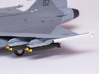 Saab Gripen Twin Store Carriers with Mk82 Bombs 3d printed Saab Gripen Twin Store Carriers with Mk82 Bombs