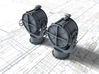 """1/72 Royal Navy 44"""" Searchlight x2 3d printed 3d render showing part detail"""