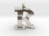 FR Monogram serifs [pendant] 3d printed