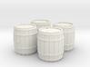 Wooden Barrel, x4, 28mm Scale 3d printed