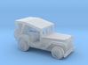 1/144 Scale MB Jeep Covered 3d printed