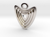Heart with grooves Pendant 3d printed