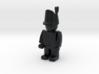 British Wellington Shako  3d printed Example figurine wearing the hat in black Hi-Def Acrylate