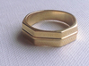 Roger Ring 3d printed Polished Brass