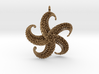 5Starfish Pendant 3d printed