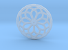 Mandala pendant or earrings with small dots 3d printed