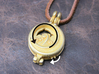 "Rotate Pendant ""Dolphin and Moon"" 3d printed Dolphin will rotate when you rotate the small gear."