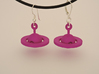 Saturn - Rotating Earrings (realistic scale) 3d printed Purple Strong & Flexible Polished