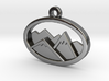 Layered Mountains Pendant 3d printed