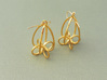 Finials - Pair of Earrings in Cast Metals and Poli 3d printed