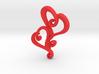 Swirly Hearts Pendant/Keychain 3d printed
