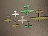 P-51 Mustang x8 (Axis & Allies) 3d printed Side by side with other game pieces for size comparison