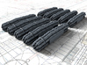 1/200 Royal Navy Flota Nets x10 3d printed Flat back for easy attachment