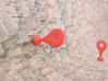 Google Maps Marker - Magnet (no hole) 3d printed Red Strong & Flexible Polished (v1.0)