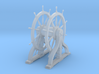1/96 Ship's Wheel (Helm) for USS Constitution 3d printed