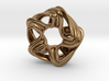 Jaborosa pendant necklace 3d printed pendant necklace in raw brass