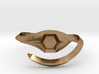 hexagonal stone ring 3d printed